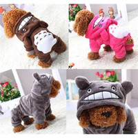 Wholesale 2016 Dog Fashion Jacket Cartoon Chinchilla Styling Dog Clothes Pet Jacket Coat Puppy Cat Hoodie Costumes Apparel Winter