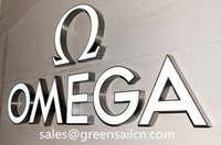Wholesale LED lighted acrylic channel letters D logotype signboard customized corporate signs text letters display