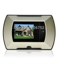 Wholesale Digital Door Peephole Viewer High Resolution Camera quot LCD Digital Monitor DIY Video Door Bell for Home Security