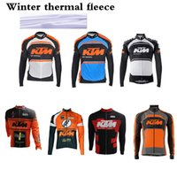 Wholesale KTM Cycling Jersey Winter Thermal Fleece Ropa Ciclismo Invierno Sport Jersey MTB Bike Clothes Winter Cycling Clothing Pro Team