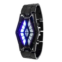Wholesale 2015 new Titan snake specter table retro LED electronic luxury watches creative binary male watch black and silver