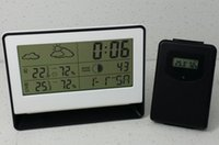 Cheap Digital weather station clock Best Household Plastic wireless weather station