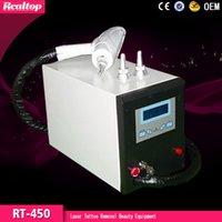 Precio de Máquinas de láser usados en venta-ND YAG láser para la eliminación de tatuajes máquina de belleza para el uso del salón hogar RT-450 Venta caliente Q-Switched