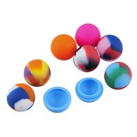 Cheap Colorful Ball Shape Silicone Container Nonsolid Color & Pure Color Jars Dab for Dry Herb Atomizer AGO G5 Wax Vaporizer E Cigarette DHL FREE
