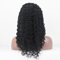 african delivery - 100 Brazilian Remy Human hair Deep Wave African American Full Front Lace Wig Hot Sale Stock In Stock Delivery Fast