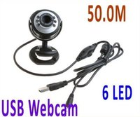 Wholesale NEW M LED PC Camera USB HD Webcam Camera Web Cam with MIC for Computer PC Laptop Round