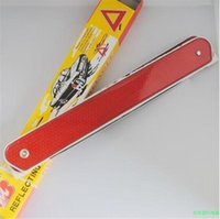 Wholesale PVC Plastic Folded Reflective Signs Auto Car Warning Triangles for Tripod Fault Prompt pc per set