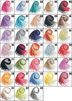 fringe scarf - New Double color gradient Pashmina Cashmere Solid Shawl Wrap Women s Girls Ladies Scarf Soft Fringes Scarf color