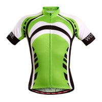 Wholesale Unisex Bicycle Jersey Cycling Clothing Breathable Outdoor Sports Short Sleeve MTB Cycling Jersey Ropa Ciclismo Size Green order lt no trac