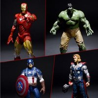 Wholesale The Avengers pieces a Hulk Iron man Captain American Thor cm cm Toy Model baby birthday gifts