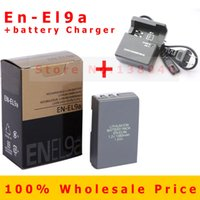 Wholesale EN EL9 EN EL9A Rechargeable Camera Battery Pack EN EL9 EN EL9A Batteries MH Charger for Nikon D60 D40 D40X D5000 D3000