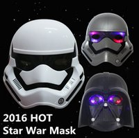 Wholesale 2016 New Star Wars Mask flash Masks The Force Awakens Darth Vader Helmet white casque Star Wars toy soldiers High Quality
