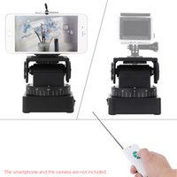 Wholesale Zifon YT Motorized Remote Control Pan Tilt with Tripod Mount Adapter Load g for Extreme Camera Wifi Camera and Smartphone DHL D3207