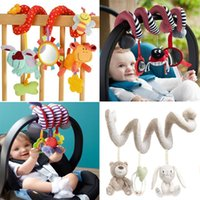 baby car toys activity - Cute Spiral Activity Stroller Car Seat Cot Lathe Hanging Babyplay Travel Toys Newborn Baby Rattles Infant Toys New Arrival