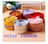 round cardboard gift box - 5Pcs Cardboard Round Jewelry Ring Necklace Earring Gift Package Case Box Display AE01126