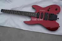 Wholesale Special new style EMG pick up steinberger headless wine red electric guitar in stock
