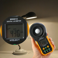 auto test light - New HYELEC MS6612 High Accuracy Lux Light Meter Test Spectra Auto Range Multifunctional Digital Luxmeter Measuring instruments T0014