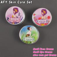 aloe eye gel - AFY Skin Care Set Gold Snail Facial Cream Eye Cream Aloe Vera Gel Cream Moisturizing Whitening Anti Aging