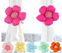 Wholesale Sunflower plush curtain tie clip flower buckle belt for window curtain accessory novelty items draperies