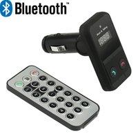 arabic music radio - Black Wireless Bluetooth FM Transmitter Modulator Car Kit MP3 Player SD USB LCD Remote Controll Music Player