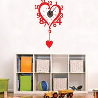 backdrop outlet - Wall stickers home decoration Factory outlets love clock fashion creative living room wall stickers backdrop CD821 home decoration