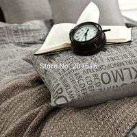 abc comforters - ABC grey color fashion bedding set queen king size pc comforter set pc duvet cover sets Cotton Fabric Fast shipping