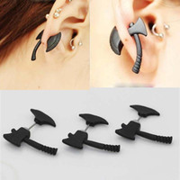 axe earring - 20 Fashion Women Men Stud Earrings High grade Alloy Three dimensional Axe Shape creative jewelry Individuality Earring