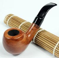 wooden smoking pipe - Smoking Set Wood Smoking Pipe Handmade Tobacco Pipe mm Filter Wooden Pipe