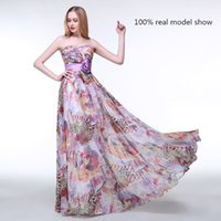 amazing flowers photos - Amazing Real Photos Sheath Sexy Printed Prom Dresses with Hand Made Flower Floor Length Sweetheart Party Dress Custom Made