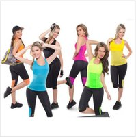ladies body shapers - 4000 BBA3861 lady Color Hot Shapers Stretch Neoprene Sweating Sport Vest Slimming Body Shaper thermo shirt Waistband Lose Fat Shaper vest