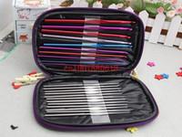 Wholesale Newest Multicolour Aluminum Crochet Hook Knitting Kit Needles Set Weave Craft Yarn Stitches sets