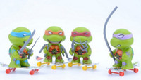 Wholesale 20pcs Children cartoon toys Teenage Ninja Turtles Toys TMNT PVC Action Figures Toys Anime Model Toys for Kids Boys Z1018