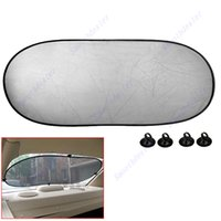 Wholesale 2pcs Black x100 CM Car Rear Back Window Sunscreen Sun Shade Visor Cover Mesh Shield
