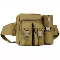 Wholesale Men Tactical pouch military molle utility pouch Outdoor fishing Camping Belt Water Bottle Casual Sports Travel Small Waist Pack