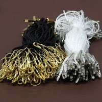Wholesale 500pcs brass pear shape safety pin with hang tags string white and black two style for option