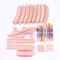 Wholesale Wooden Trains Tracks Toys Orbit Trains Compatible set Wooden Set Track Good Gifts for Children