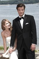 bespoke clothing - The latest handsome groom wedding best man suit bespoke suits black dance man suit clothing coat pants tie