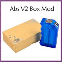 ABS V2 Boîte Mod CLONE Boîte en ABS acrylique Mod fit 18650 Batterie ecig Vape Boîte mécanique Mod VS Dimitri Boîte Clouper Mod Cherry Bomber Mod