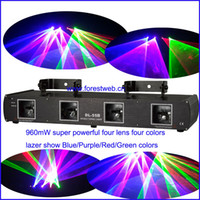 Wholesale Newest stage events show light dj laser lights mW powerful laser RGBP four colors for