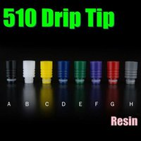 resin material - 2015 Colorful Drip Tip Resin Material Wide Bore mm Diameter Screw Shape Mouth Piece Fit Yocan Exgo W4 FJ463
