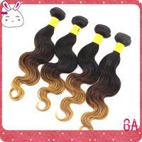 Cheap 6A Indian Peruvian Brazilian Malaysian Ombre Hair #1B 4 27 Color, Hot Malaysian Body Wave Double Weft Unprocessed Virgin Human hair 3pcs Lot