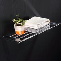 Wholesale shelves for bathroom wall shelf in the bathroom accessories chrome bath towel shelf support bathroom