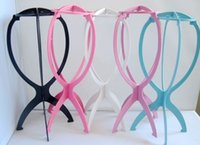 Wholesale New Folding Plastic Stable Durable Wig Hair Hat Cap Holder Stand Display Tool Tools