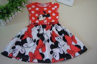 minnie mouse dress - Retails New Summer Mickey baby Girls Dress Tutu Princess Baby Minnie Mouse girls Dress Dot Baby Casual Party Dresss baby Dress Y