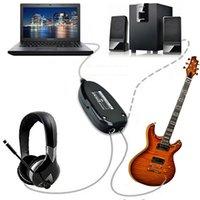 Precio de La grabación de música de la pc-Guitarra eléctrica a la interfaz del USB Cable audio del acoplamiento Ordenador portátil Música de la computadora Accesorios de la guitarra del estudio de la música con el conductor de CD