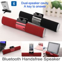 Wholesale Original ikanoo Wireless Bluetooth Speaker Sound support TF Card Audio D Surround Speakers Dual speaker car Handsfree Call Music DHL FREE