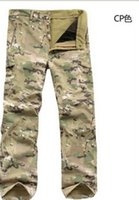 Wholesale TAD SoftShell Camouflage Pants Outdoors Army Shark Skin Men s Sports Thermal Military Waterproof Hunting Fleece Trousers