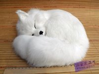 arctic crafts - Fox pet crafts fox arctic fox feng shui decoration birthday gift girls gift Tiny Stuffed Animal The simulation toy animals