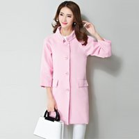 autumn signs - Sign Women s autumn and winter new Korean fashion loose sleeve windbreaker jacket and long sections