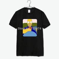 Cheap homer simpson wear superman suit tee shirt men women sweat shirt new arrival